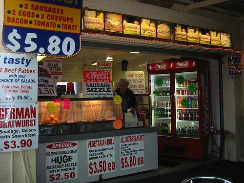 Tasty fat stall