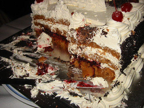 Birthday cake, cross-section