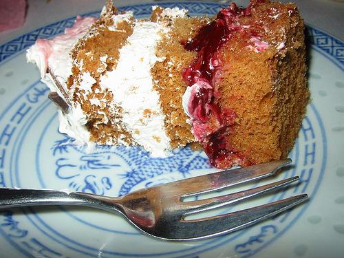 Birthday cake, slice