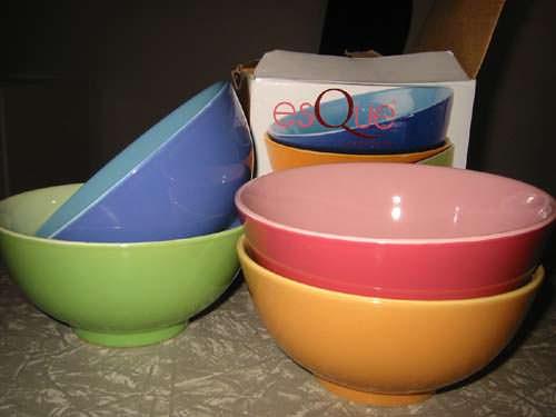 Cheap colourful bowls