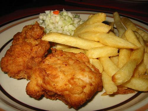 KFC dinner plate