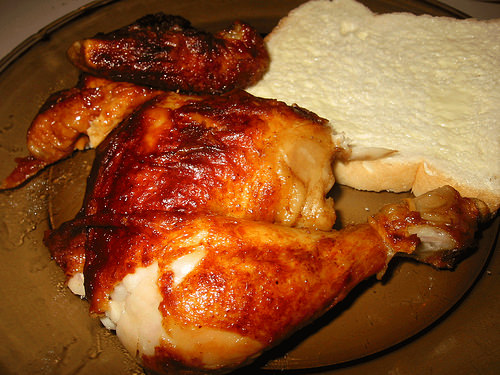 Chicken and bread