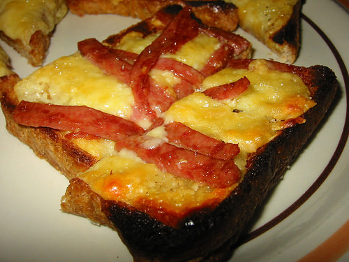 Jac's SPAM and gouda cheese toastie