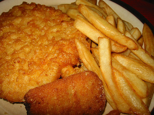 Fish and chips and a sea shanty