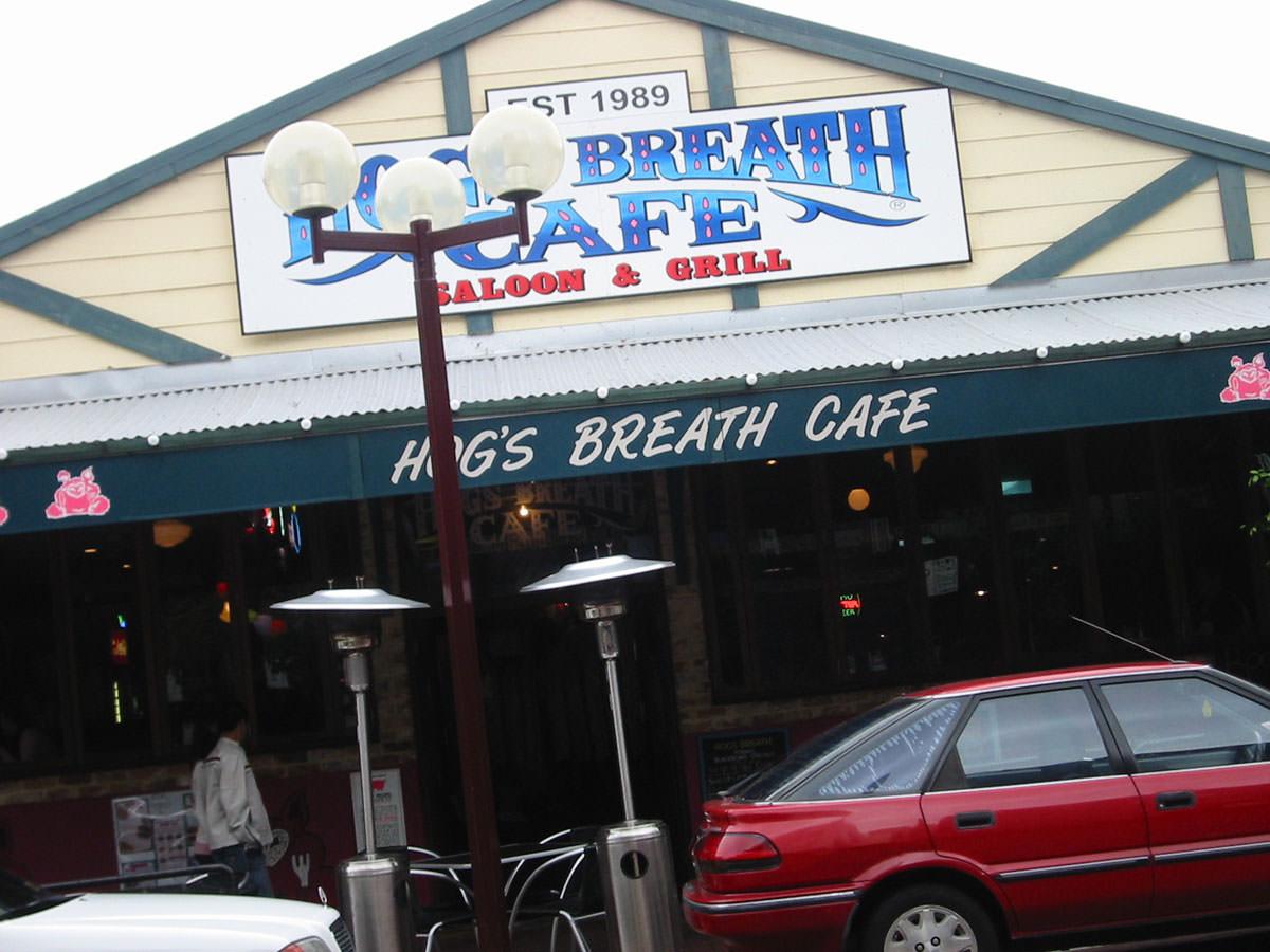 Hog's Breath Cafe, Northbridge, street frontage shot