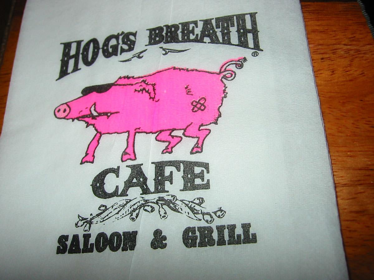 Hog's Breath Cafe Napkin