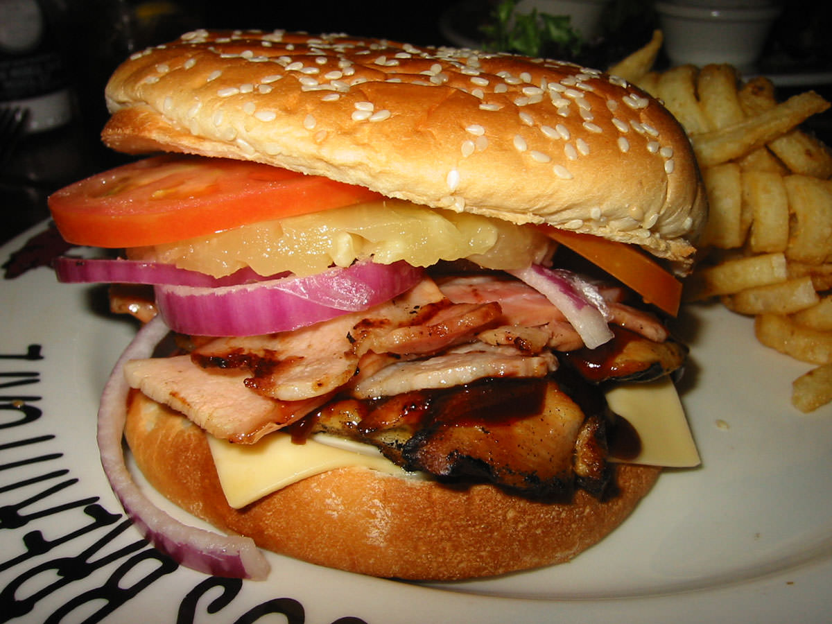 Hawaiian Hickory Chicken Burger