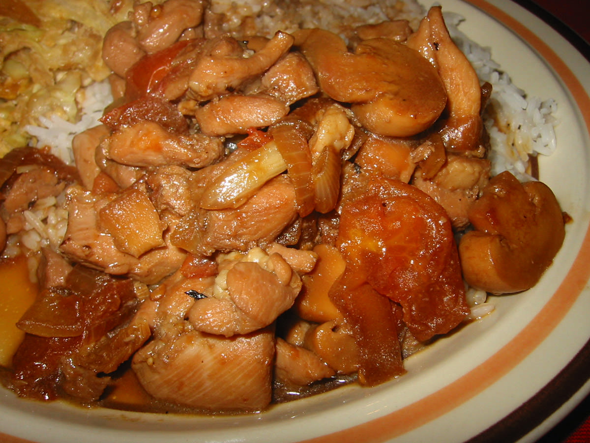 Click to see larger version of  Close up of chicken dish with no name on plate