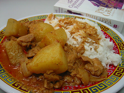 Chicken curry and rice and a good book