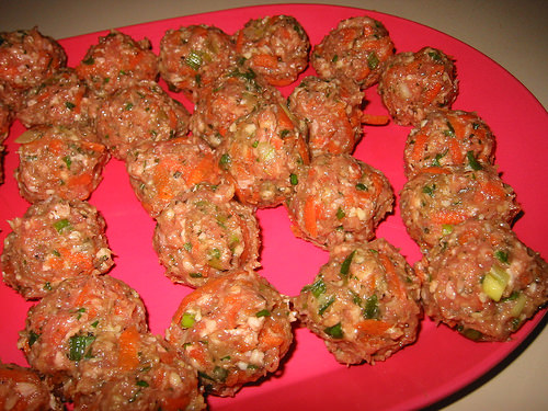 Meatballs, ready for frying