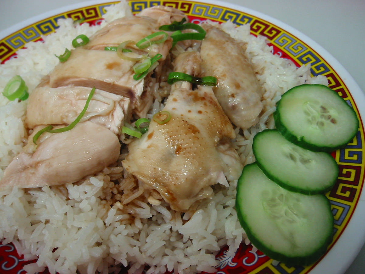 Hainan chicken rice, sans chilli sauce