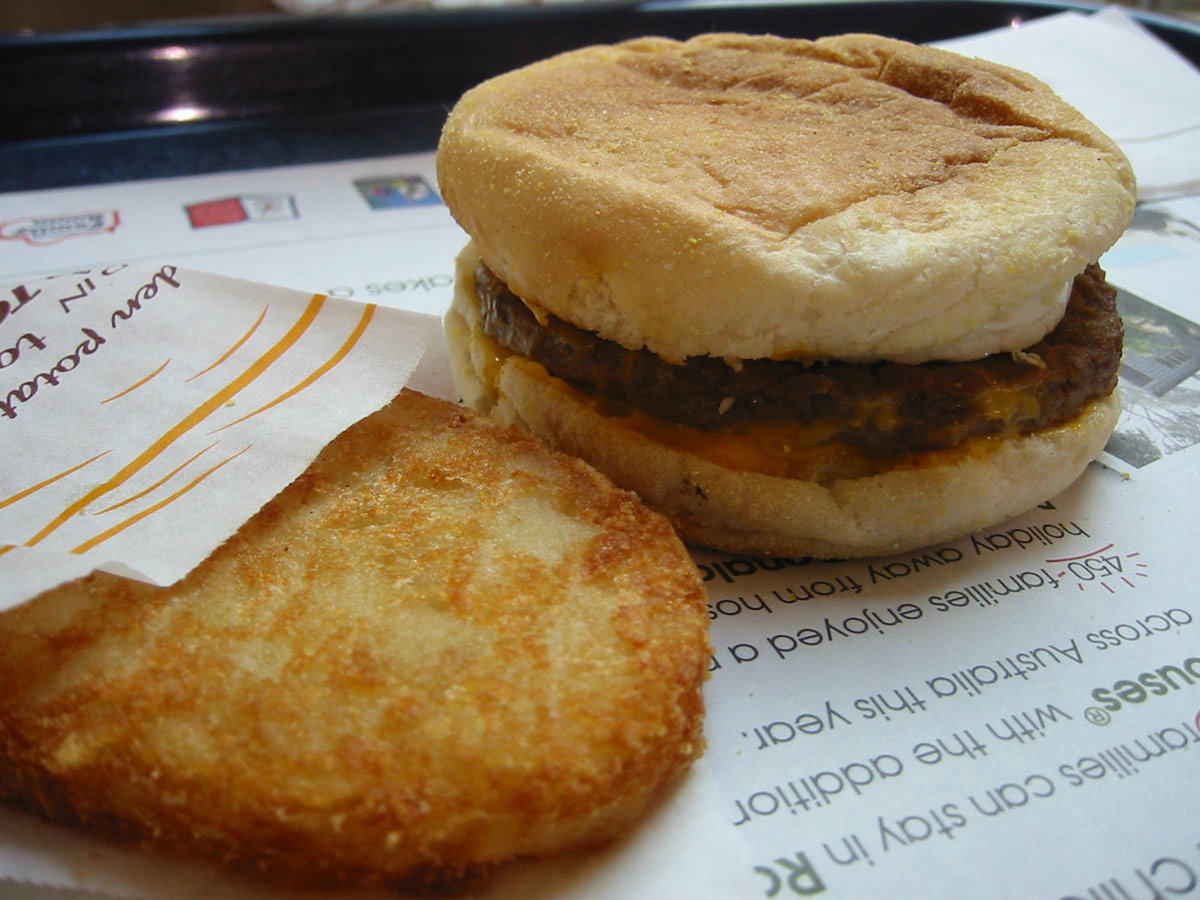 Sausage and Egg McMuffin with Hash Brown