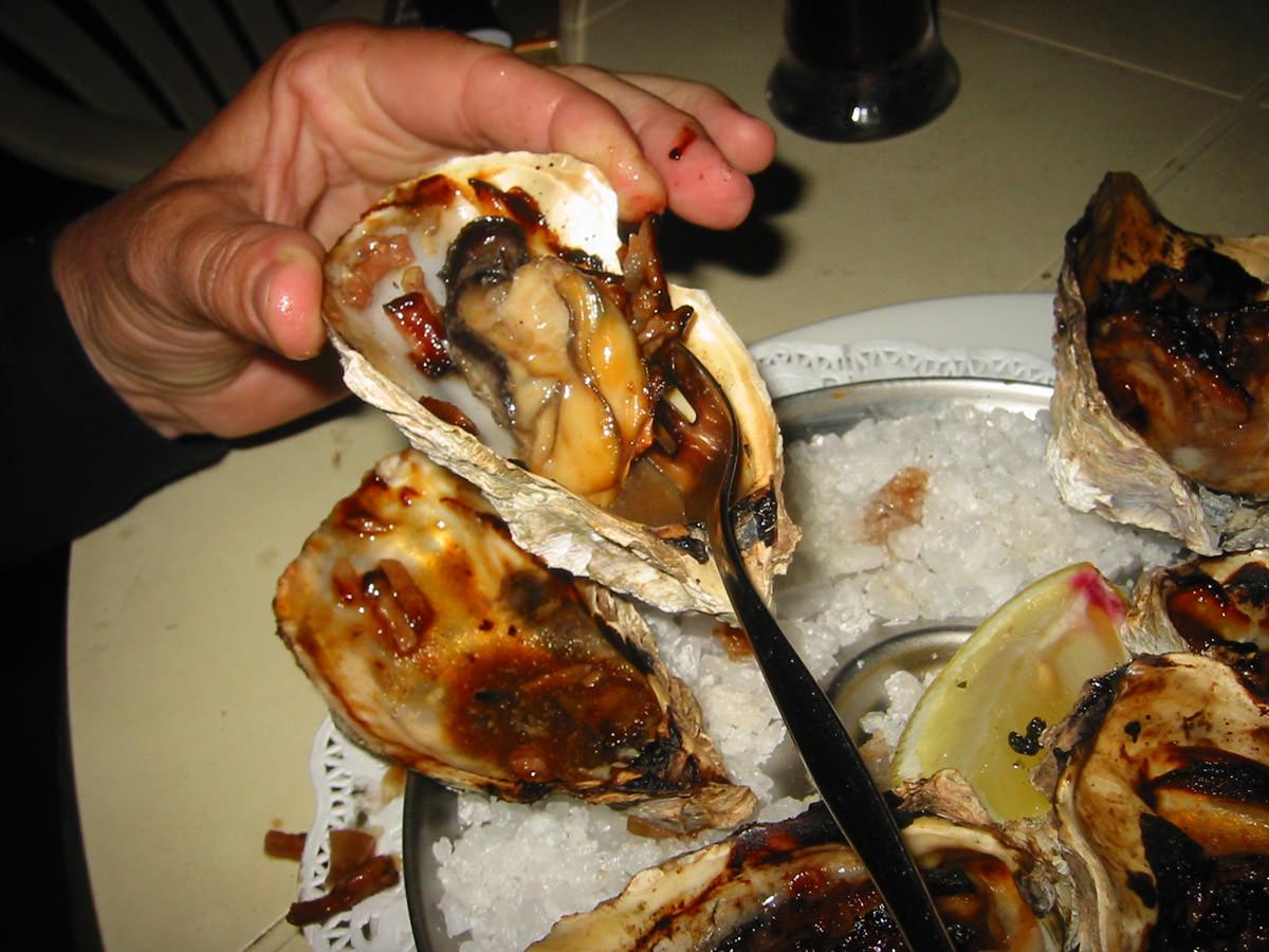 Meaty oysters