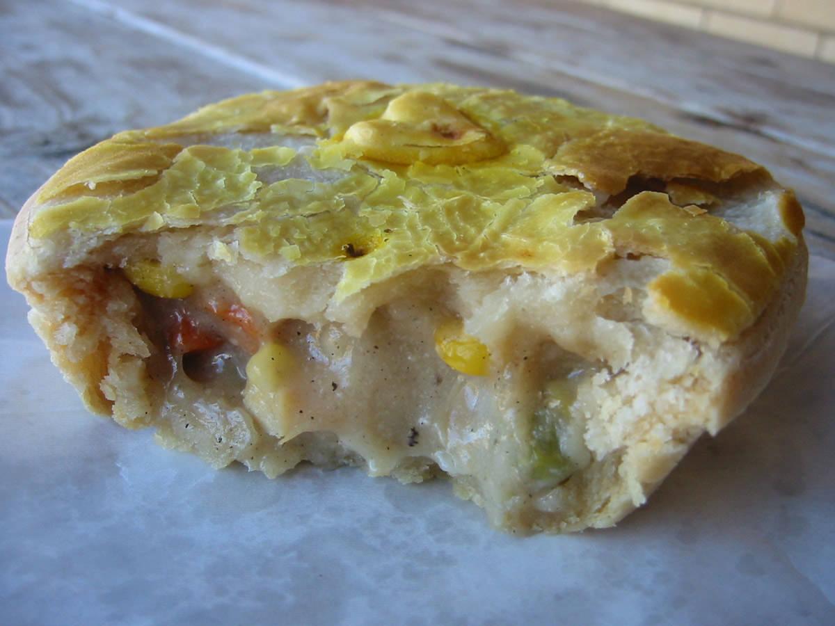 Chicken and vegetable pie innards