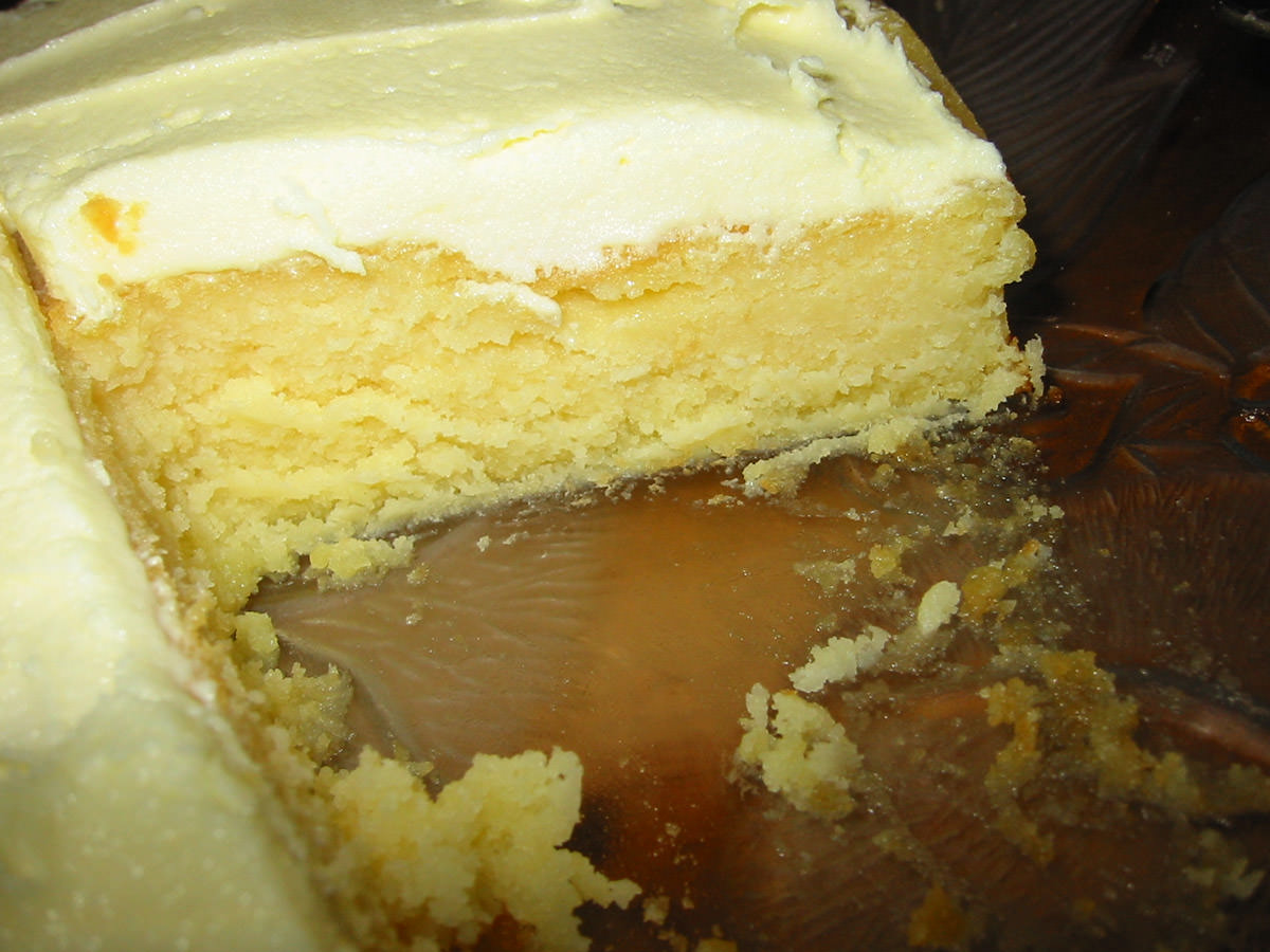 Inside the big heart-shaped butter cake