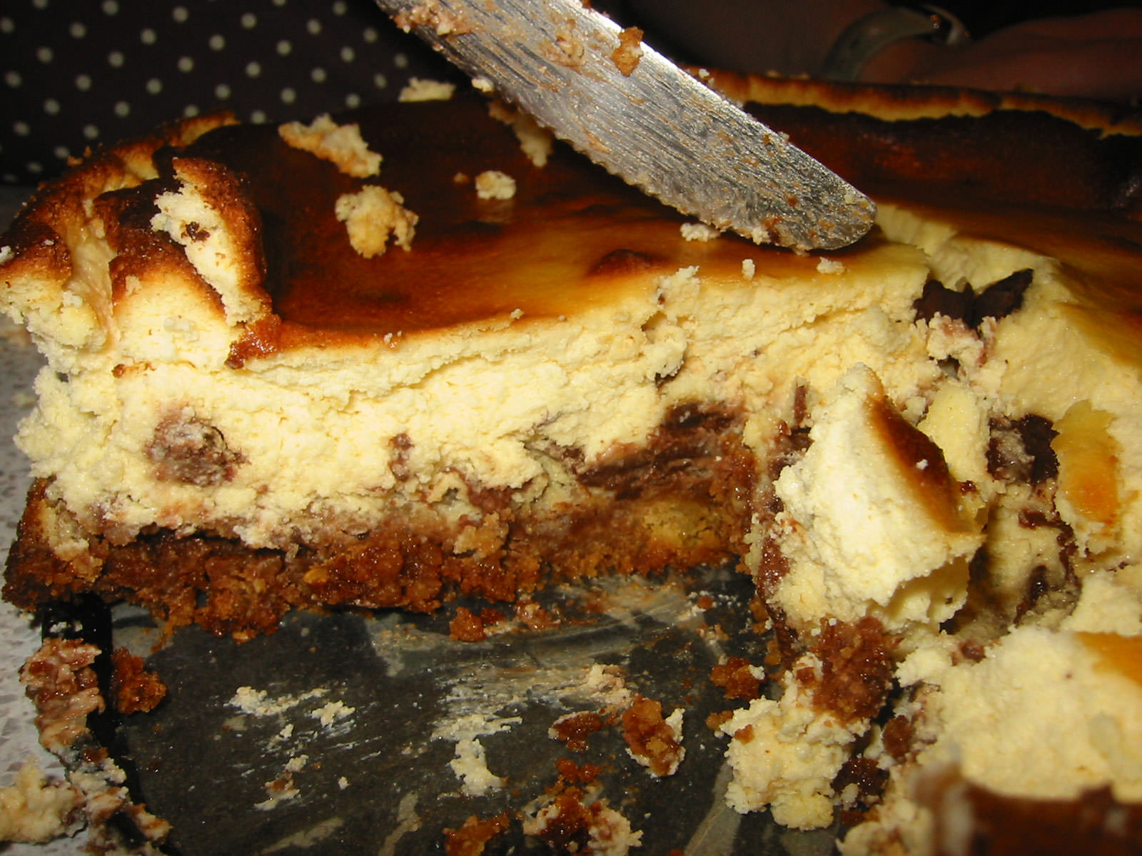 Baked chocolate cheese cake