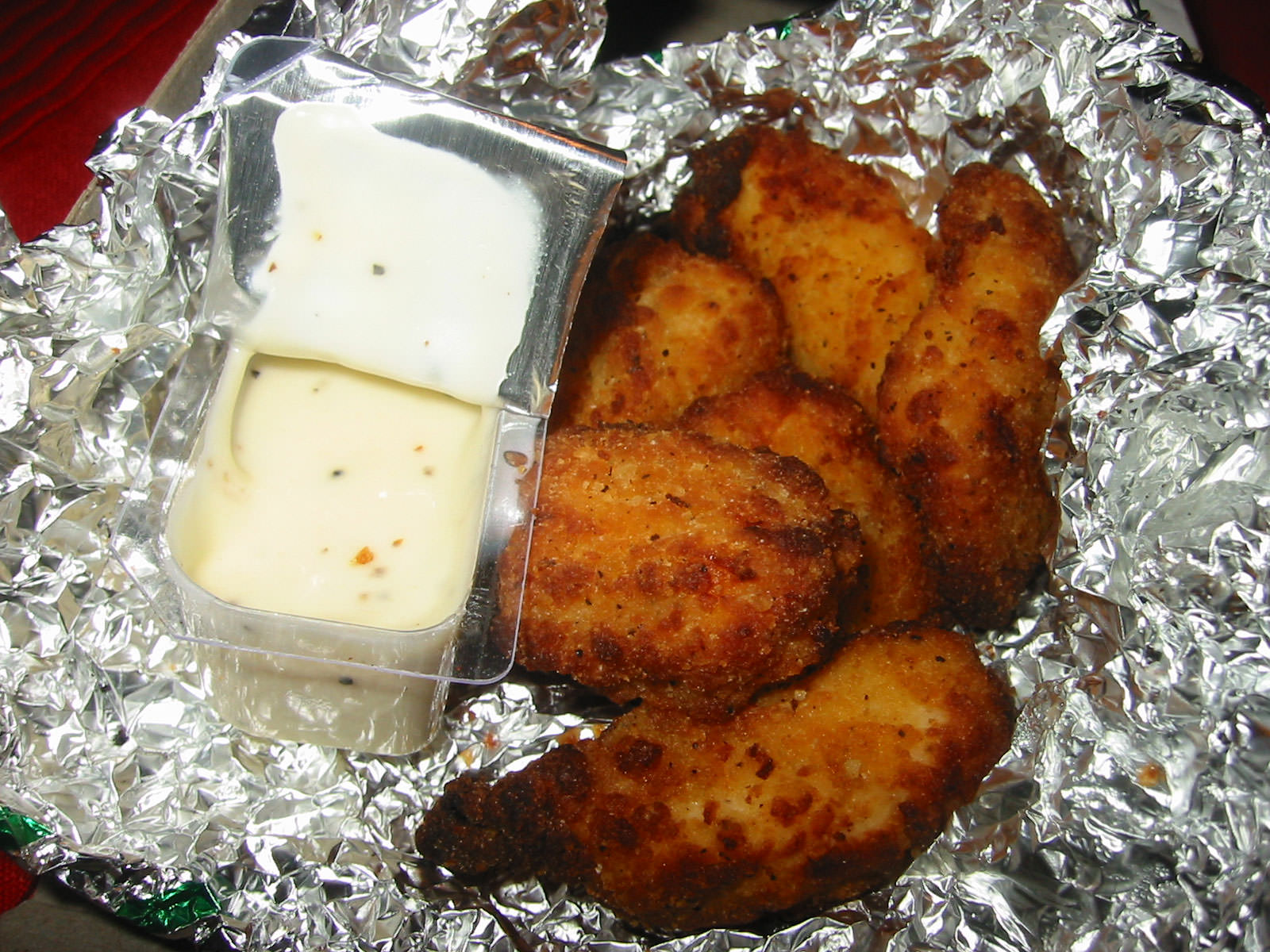 Chicken Kickers with ranch sauce