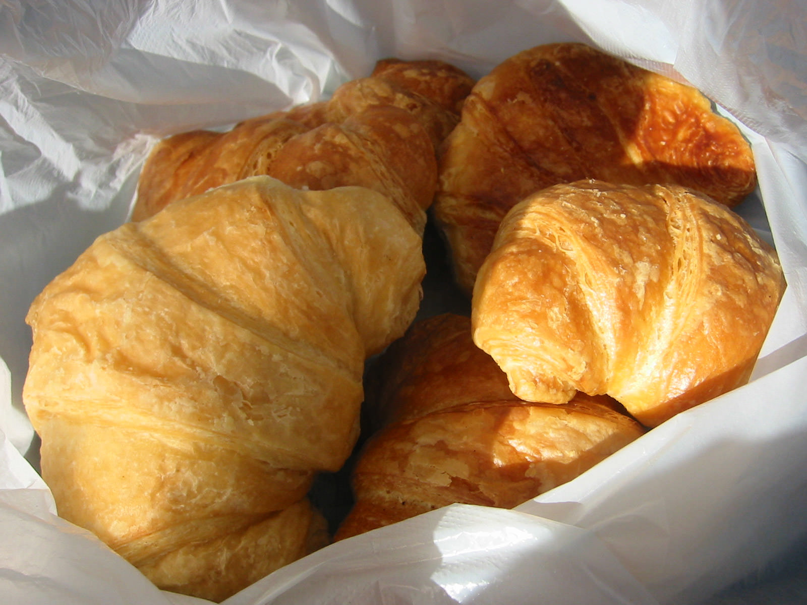 Bag of croissants