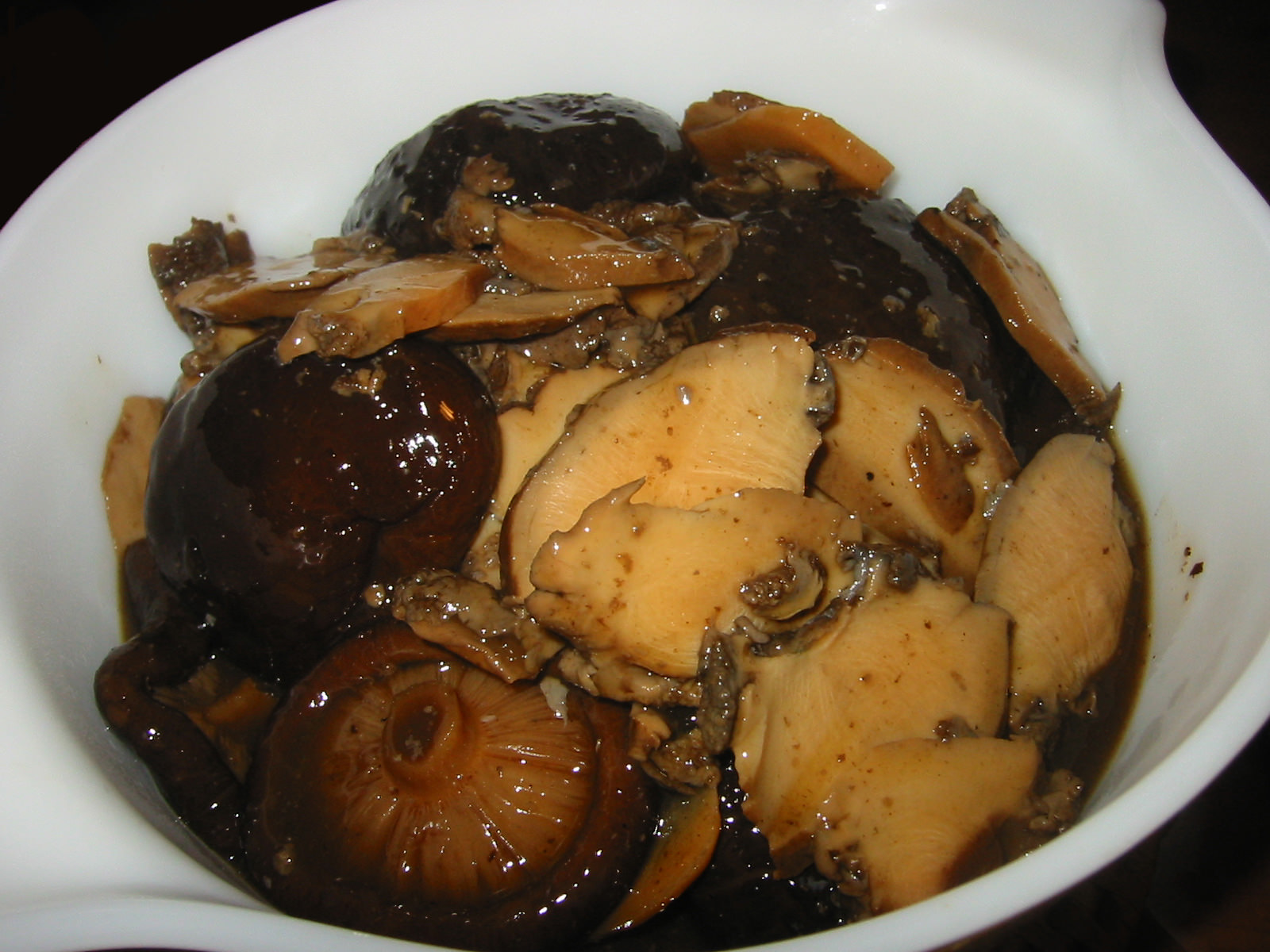 Abalone and mushrooms