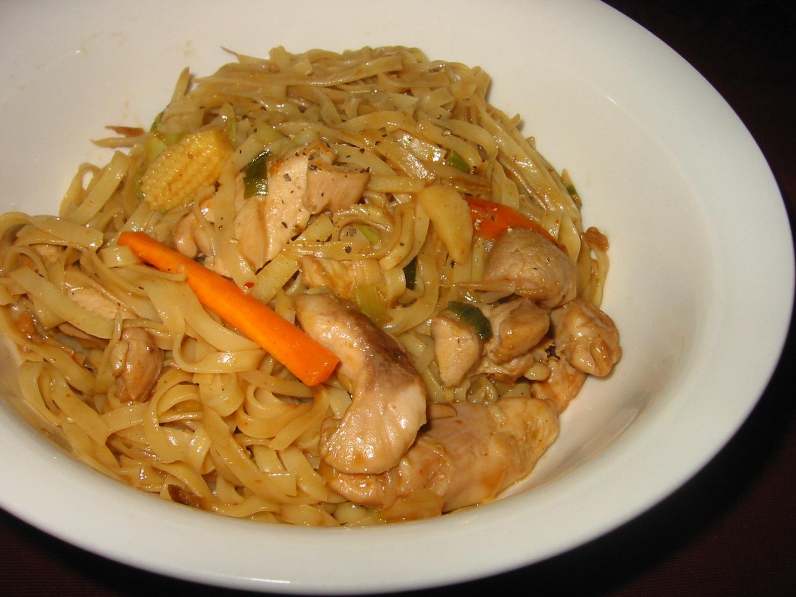 Pad Thai-style noodle stir-fry