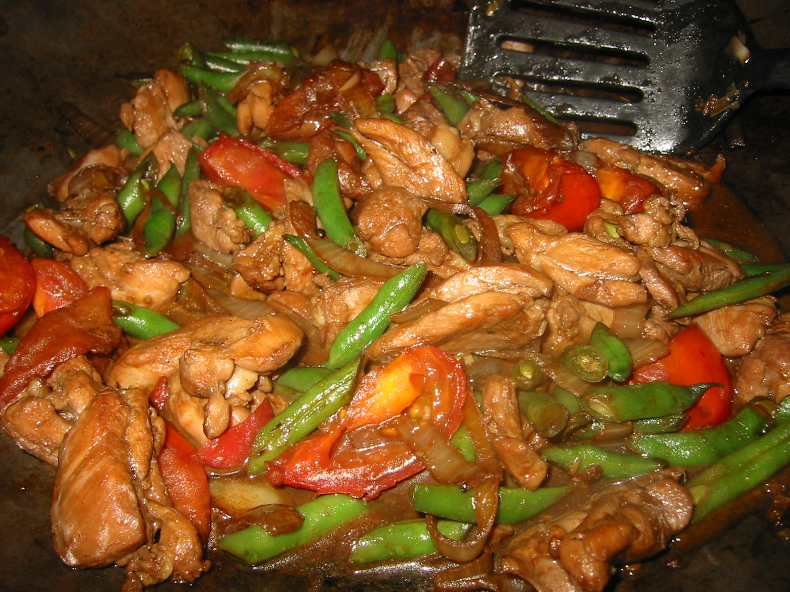 Chicken dish with no name in wok