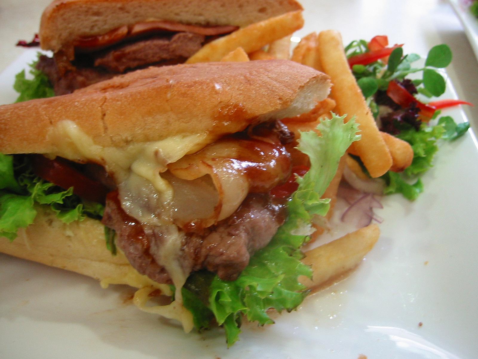 Steak sandwich alternate view