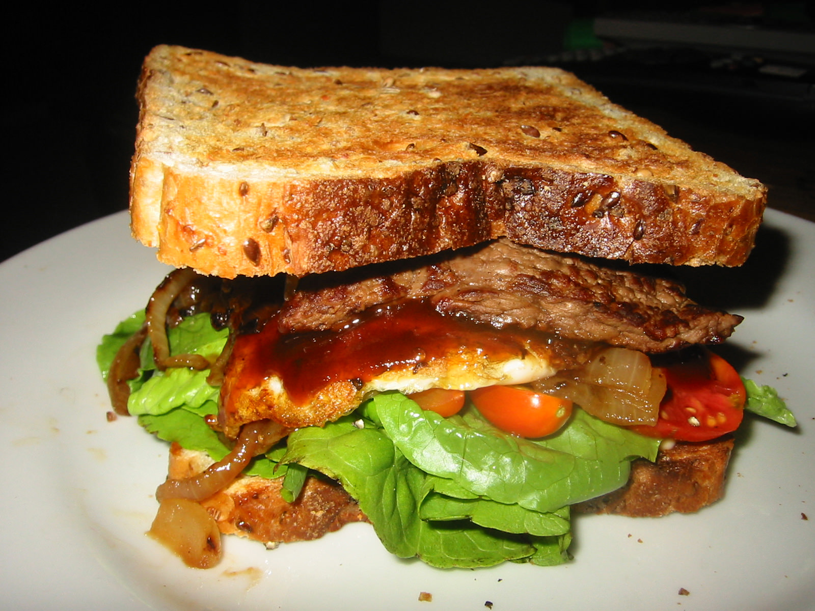 My steak sandwich