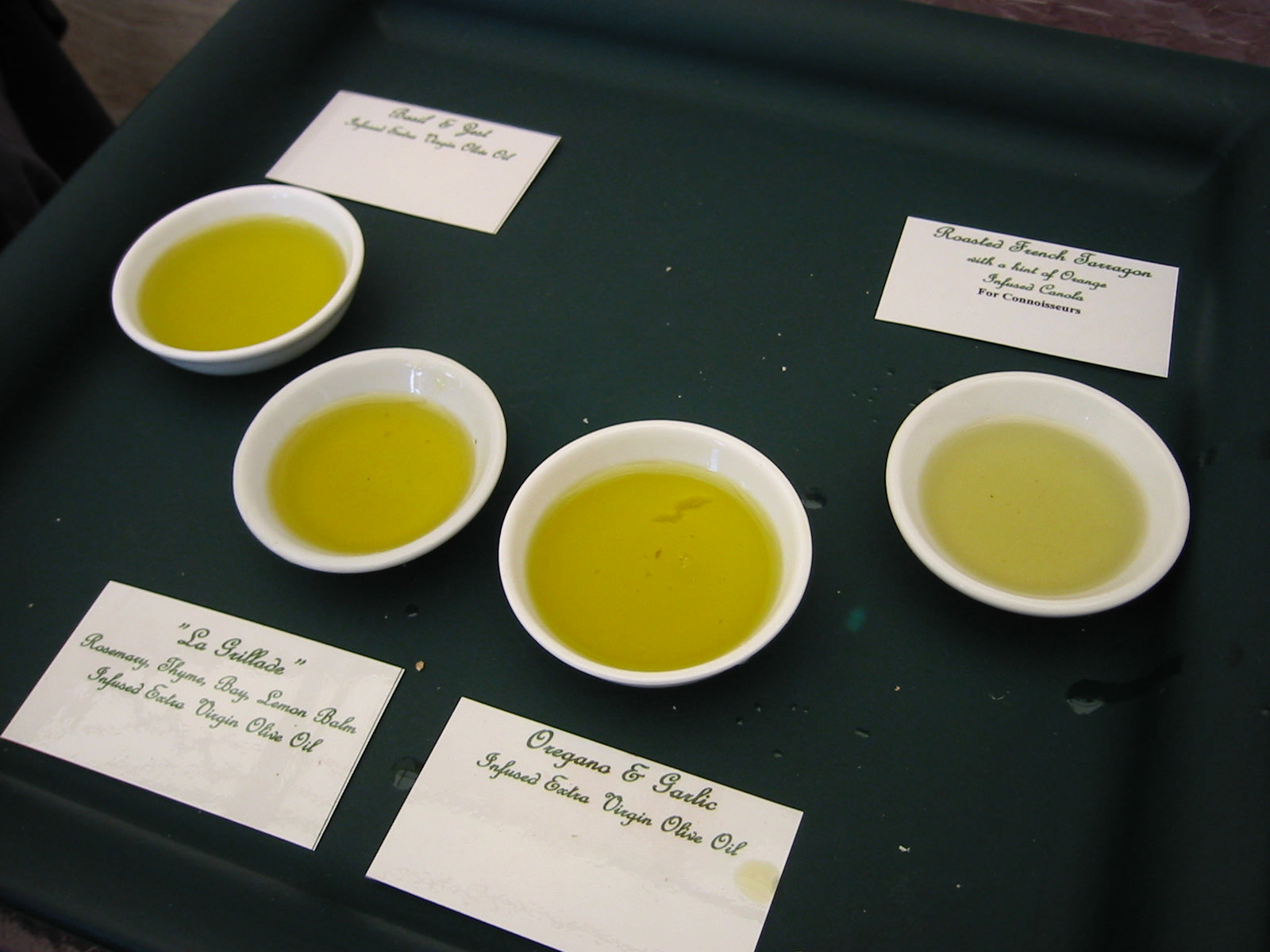 Oils for sampling