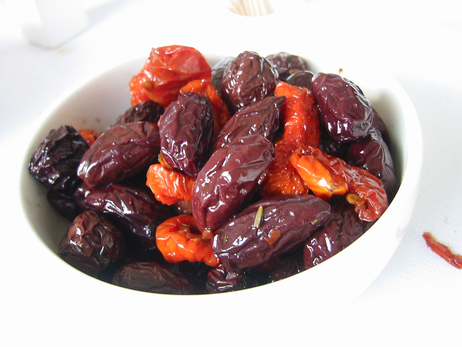 Sundried olives and tomatoes