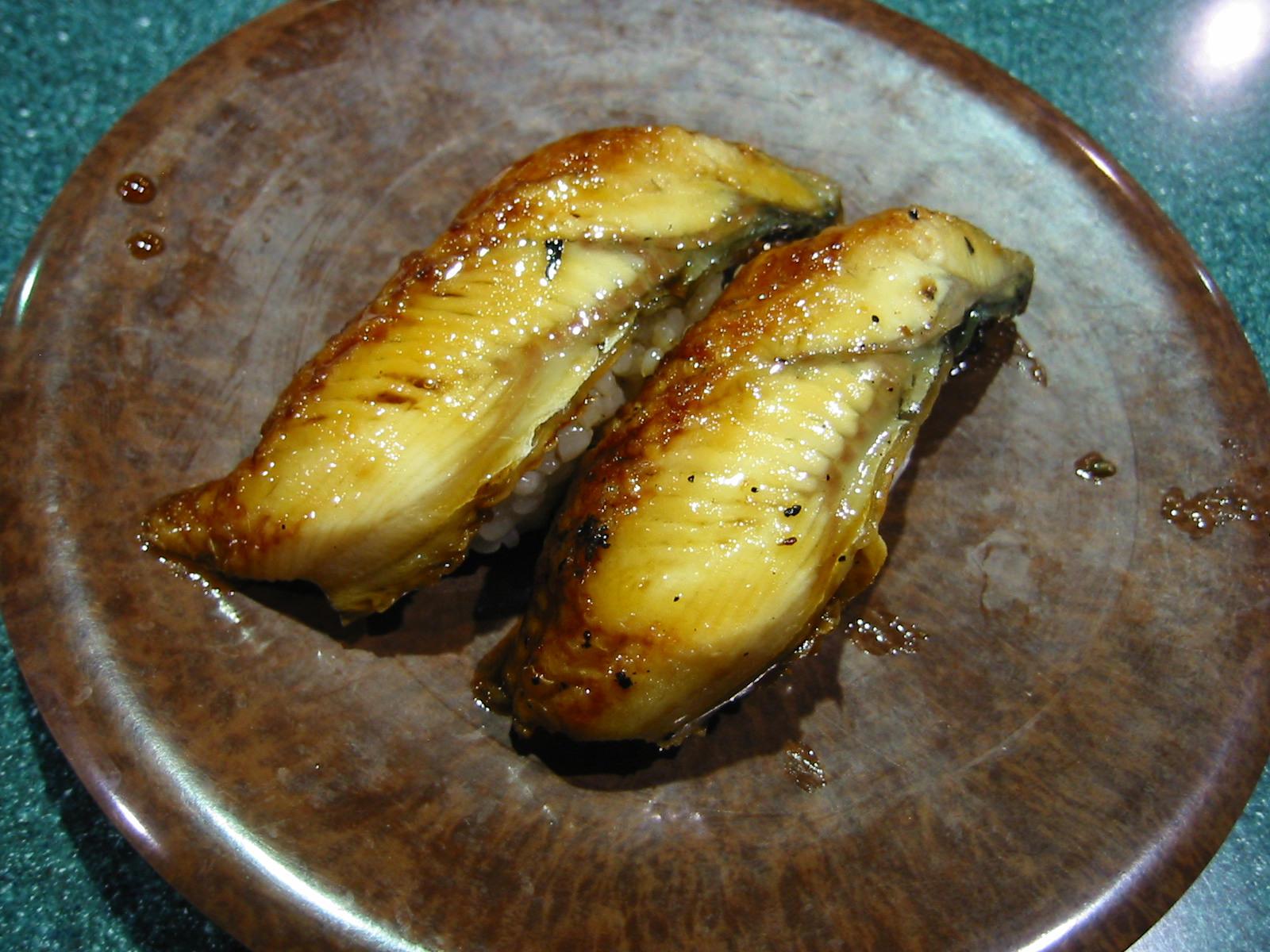 Unagi nigiri (BBQ eel)
