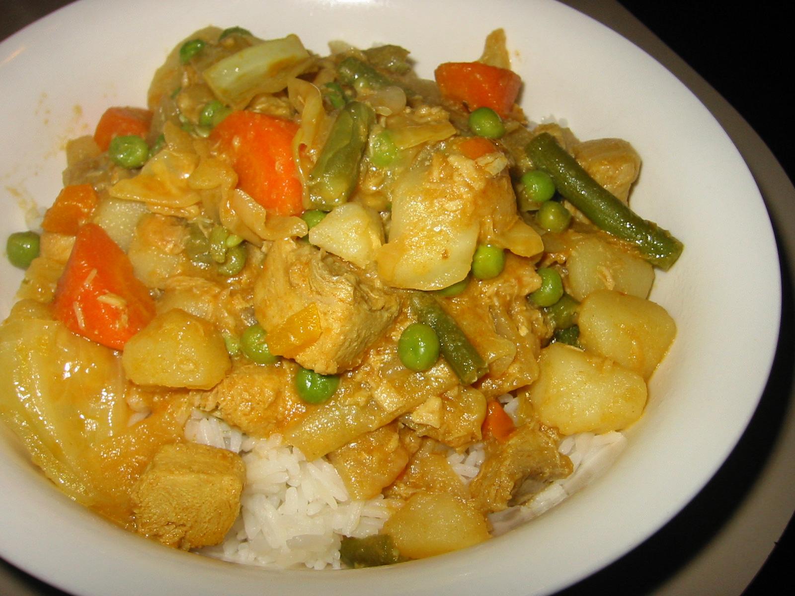 Shark and vegie curry