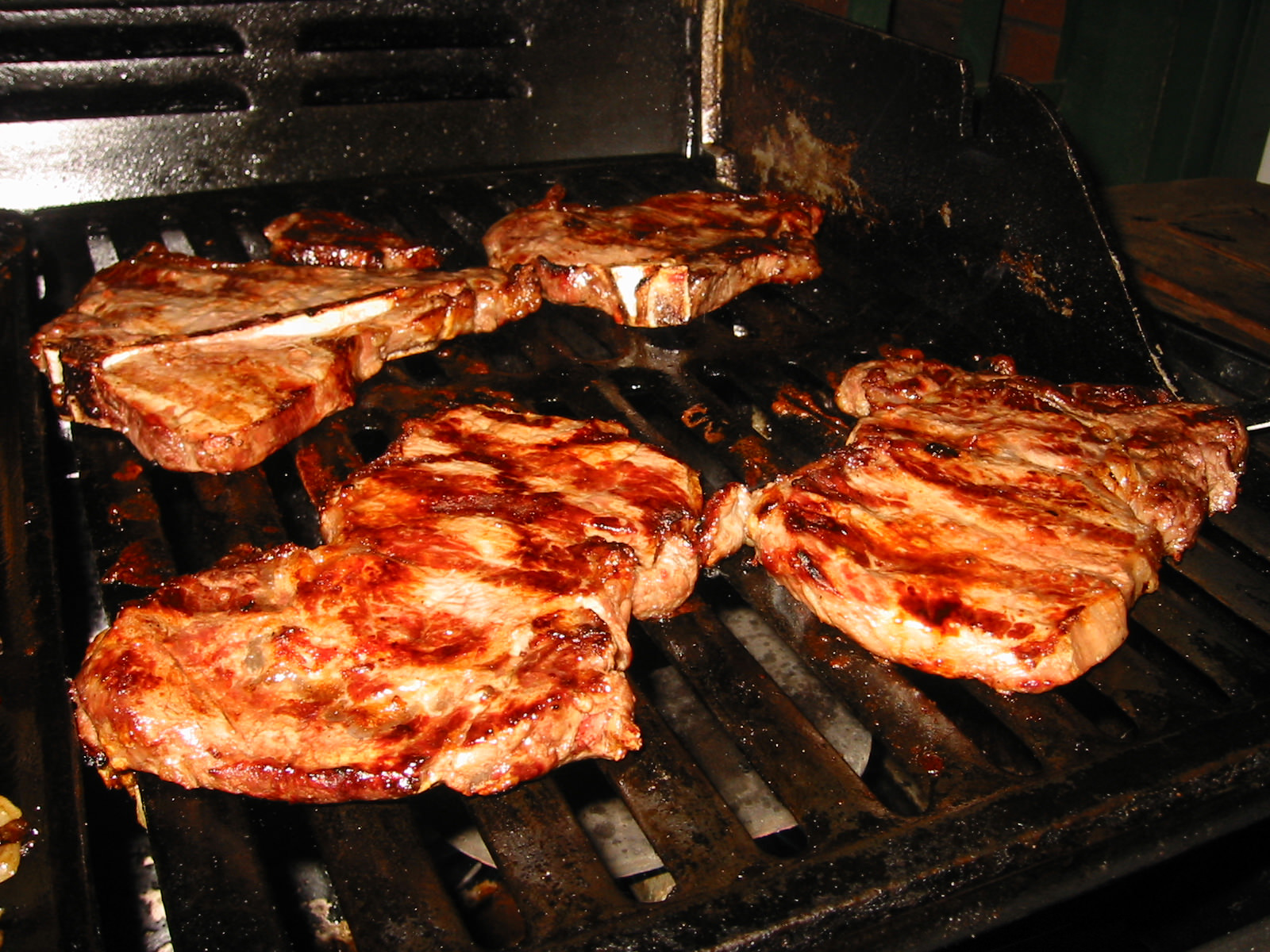 Steaks - with flash