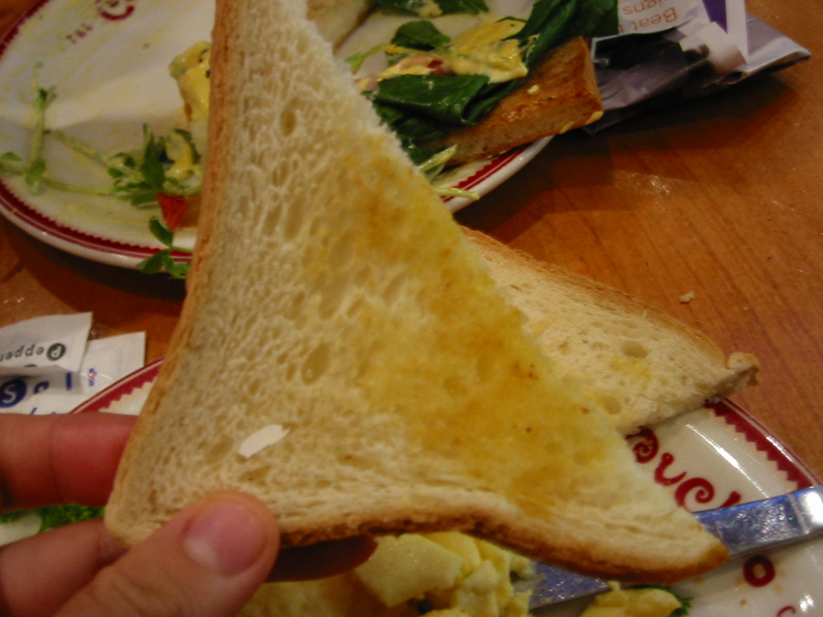 Barely buttered toast