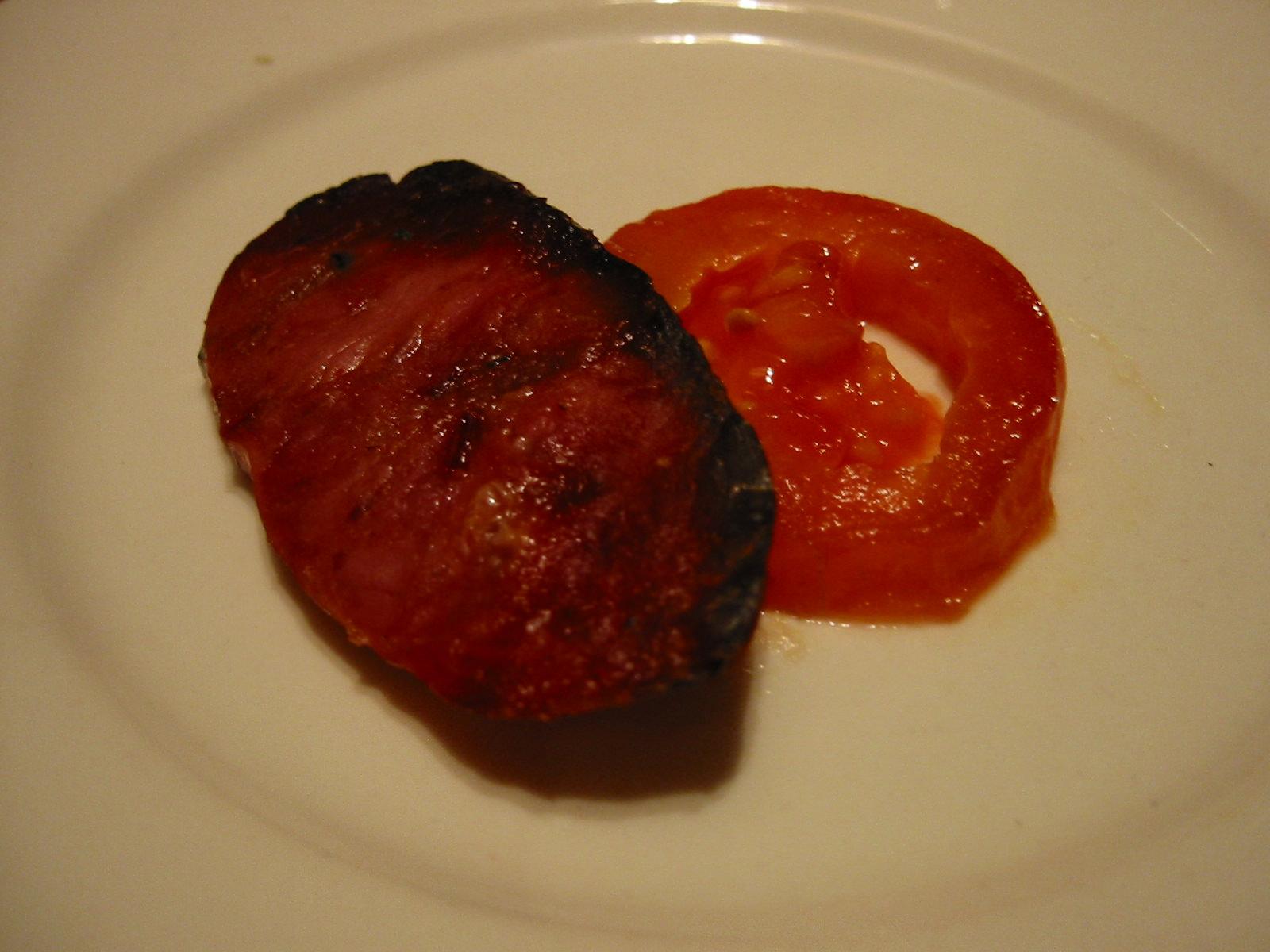 Sausage and tomato
