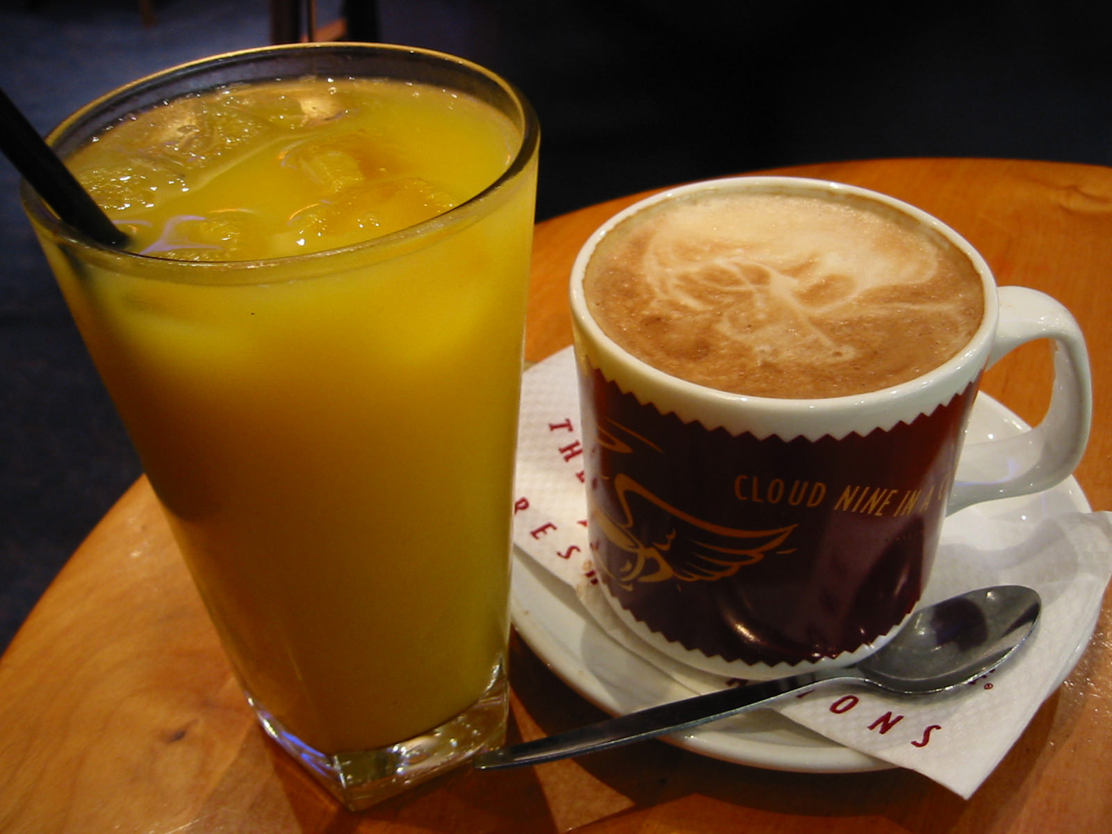 OJ and coffee
