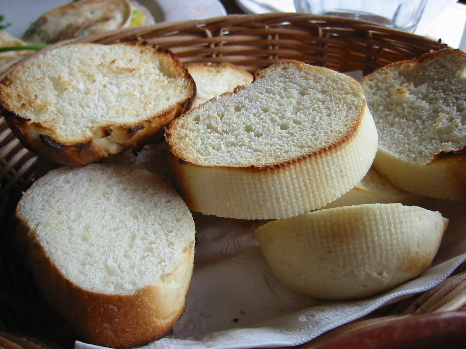 Warm toasted chewy bread