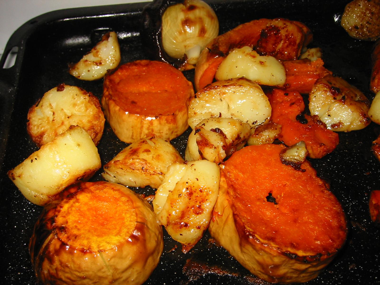 Roast vegies, spuds included