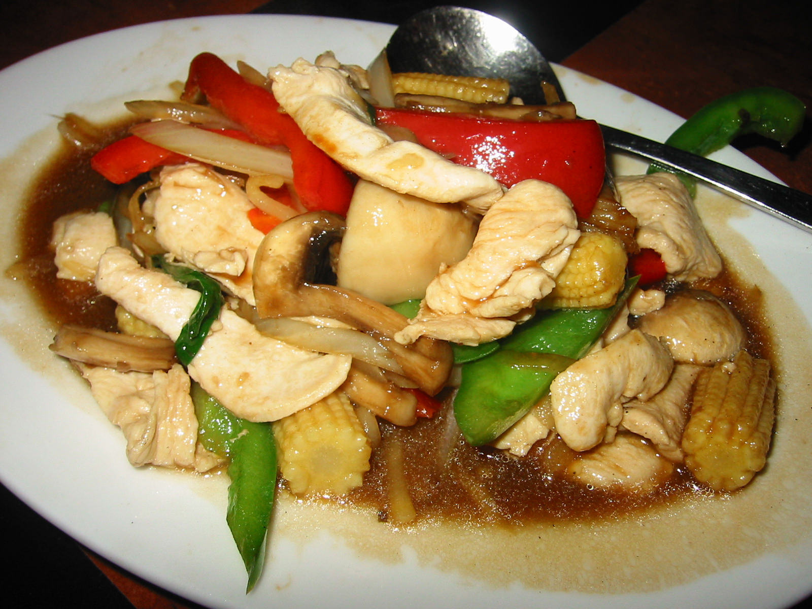 Phat khing with chicken