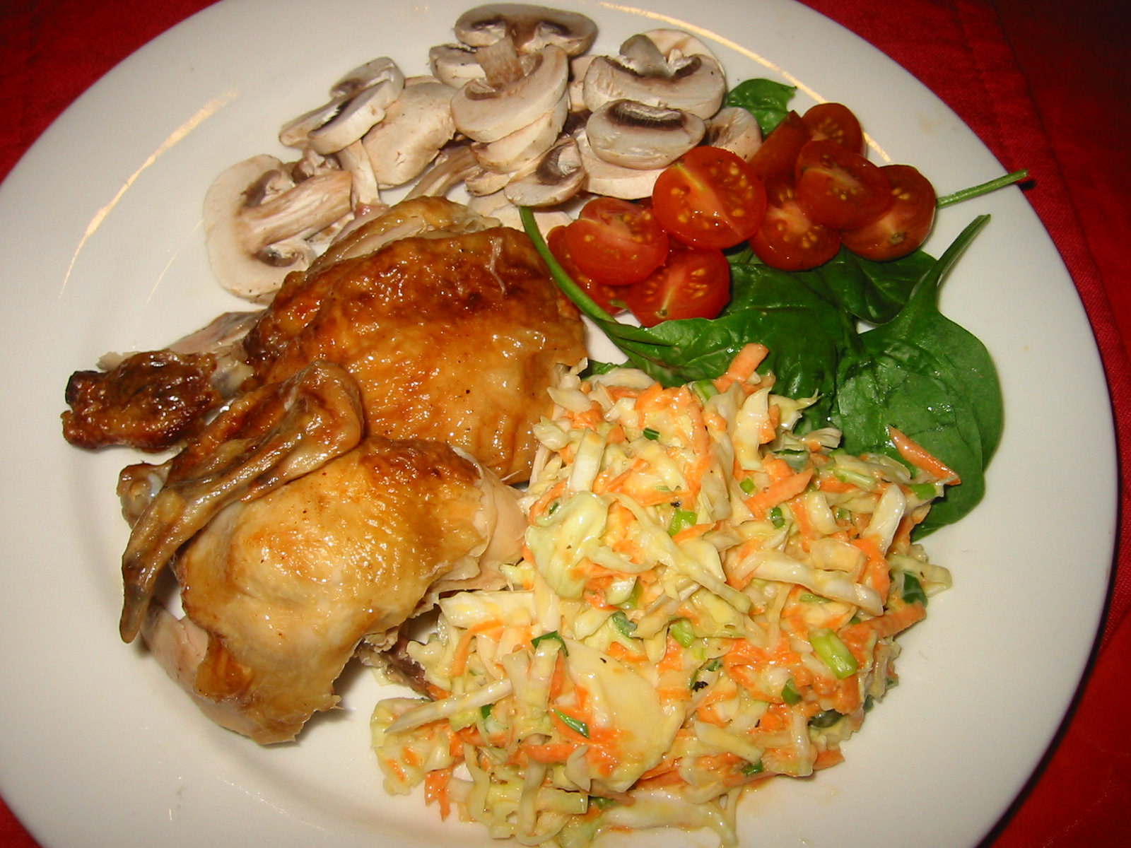 BBQ Chook with coleslaw and other salads