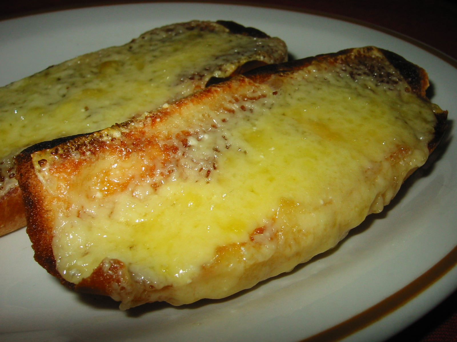 Grilled cheese on toast
