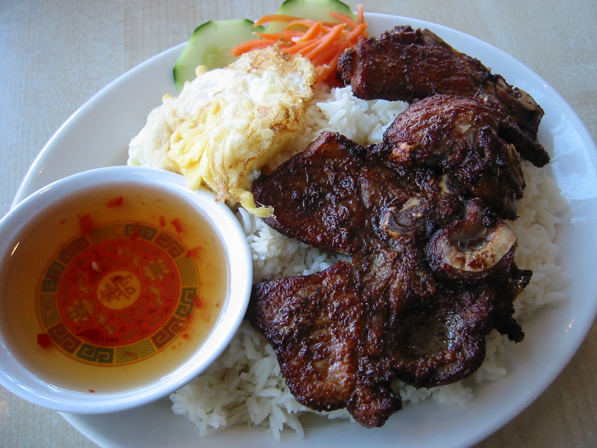 Pork chop rice
