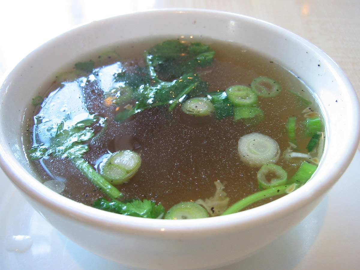 The forgotten soup, too much coriander