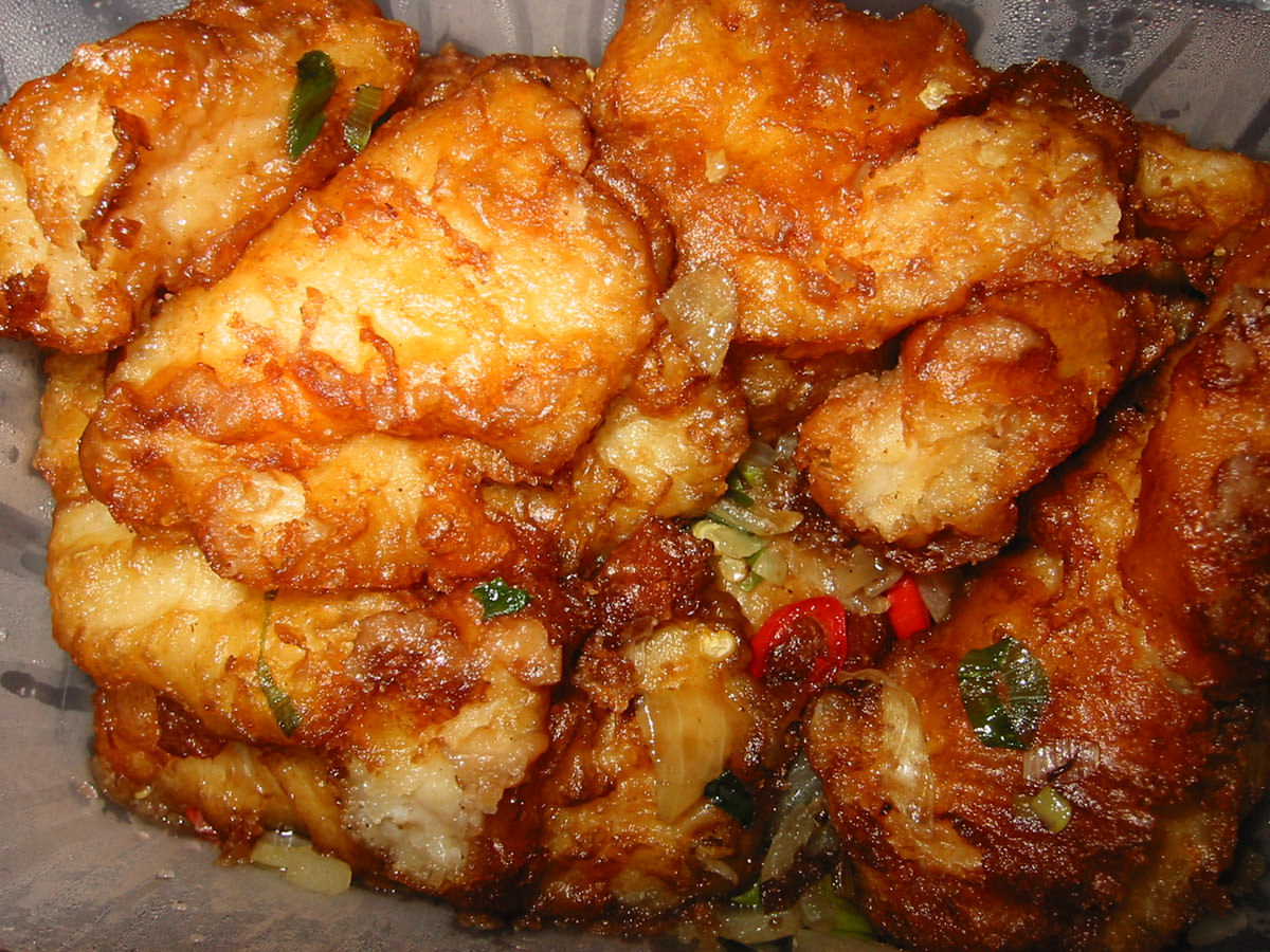 Salt and pepper chilli fish