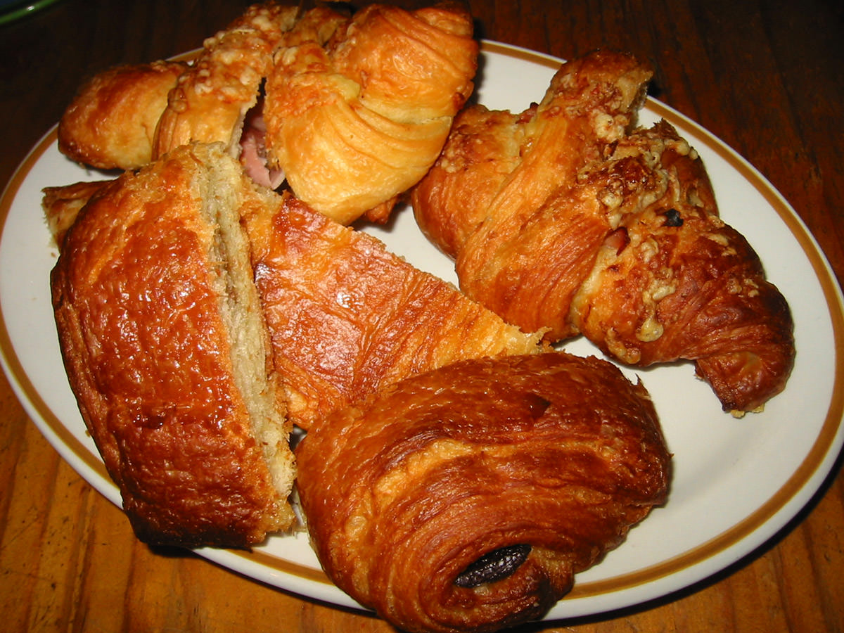 Savoury and sweet croissants