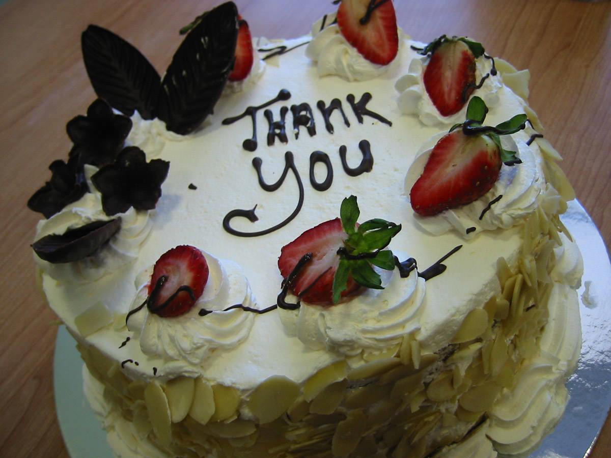 Thank you cake