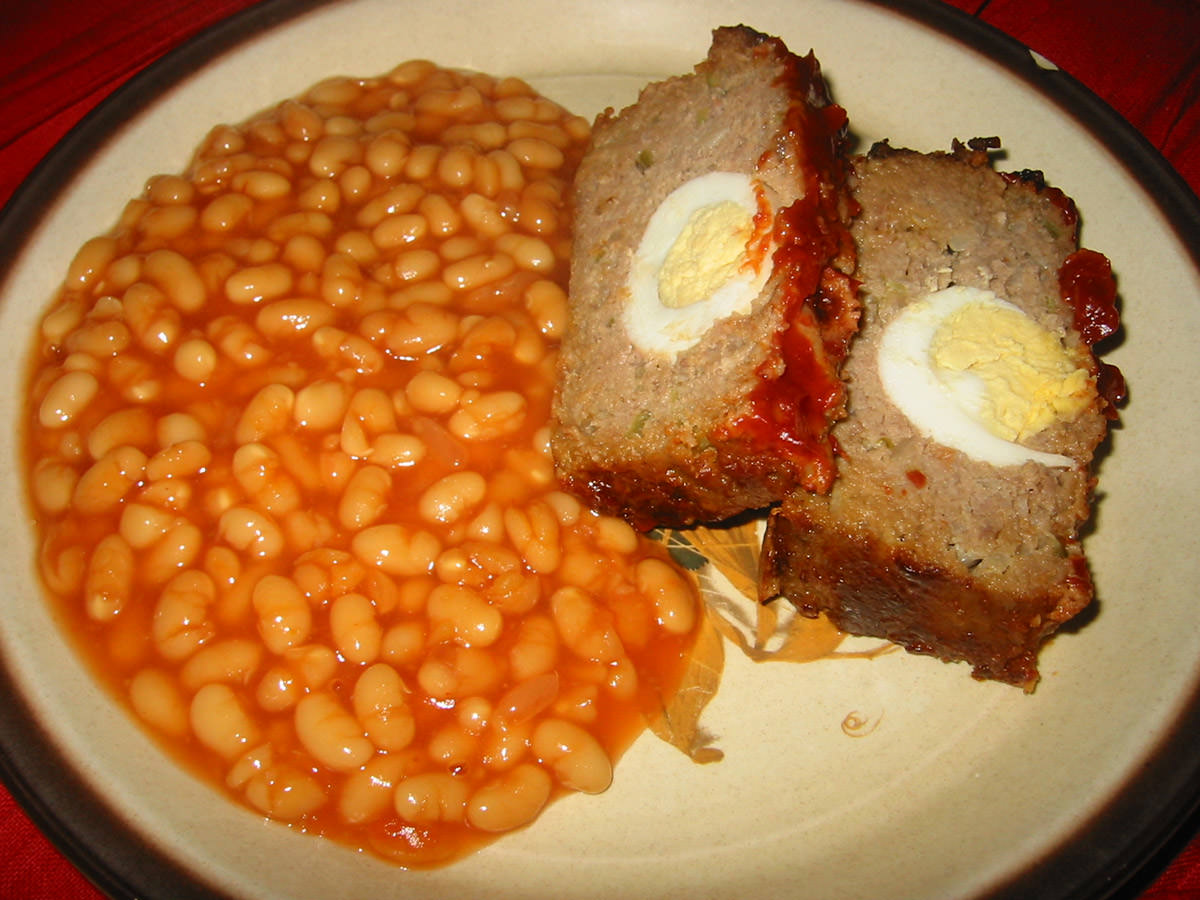 Meatloaf and baked beans