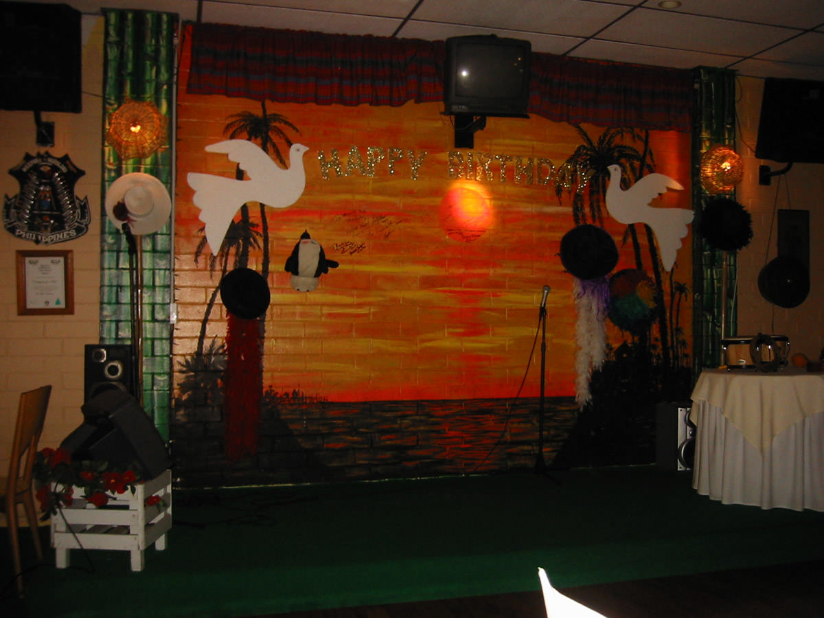 The karaoke stage