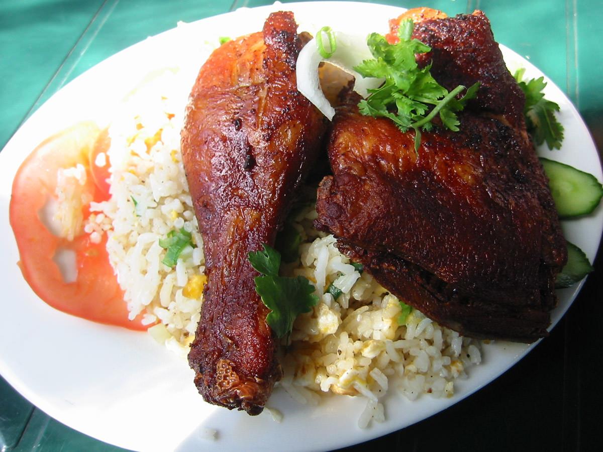 Saigon crispy fried chicken rice