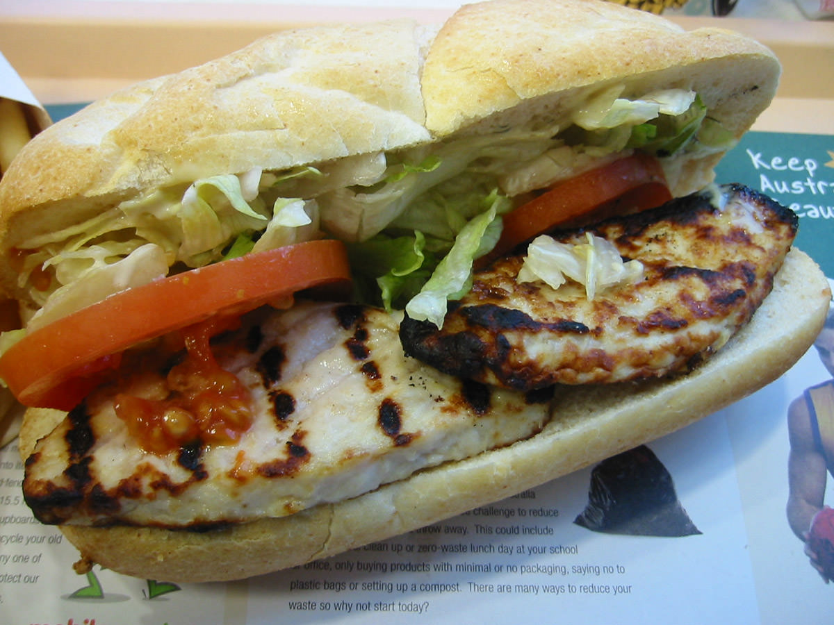 HJ's grilled chicken baguette