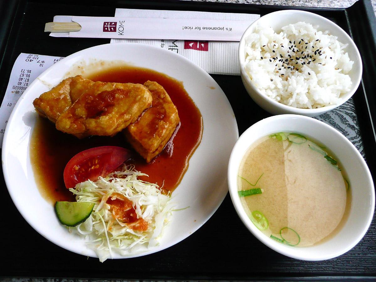Teriyaki tofu meal deal